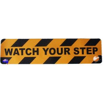 "Adhesive Anti Slip Tread ""WATCH YOUR STEP"""