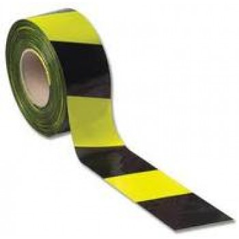 Adhesive Black & Yellow Caution Tape
