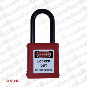 Safety Padlock - Nylon Shackle 38mm Red