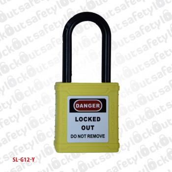 Safety Padlock - Nylon Shackle 38mm Yellow