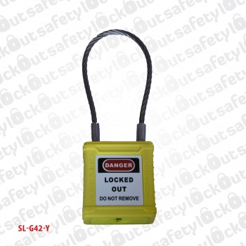 Safety Padlock Stainless - Stainless Steel Shackle-76mm Yellow