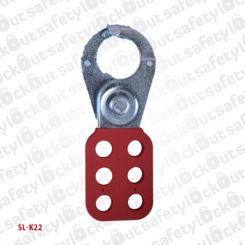 Vinyl Coated Steel Hasp With Hooks - 38mm