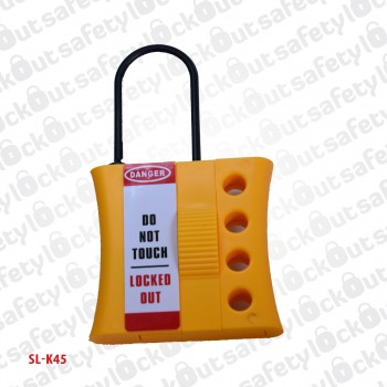 Nylon Lockout Hasp - Thin Shackle